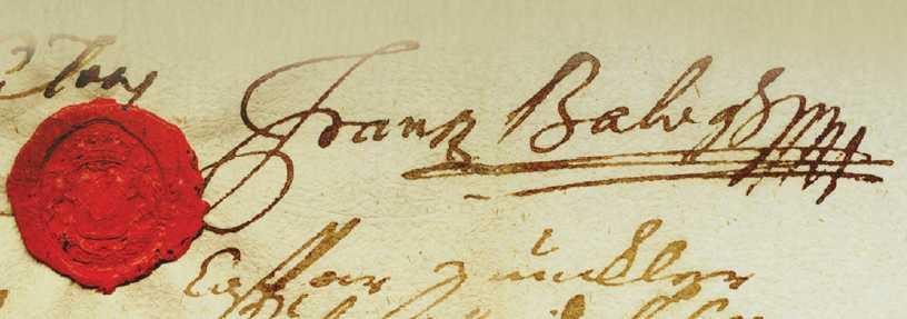 Balogh Ferenc gyűrűspecsétje és aláírása