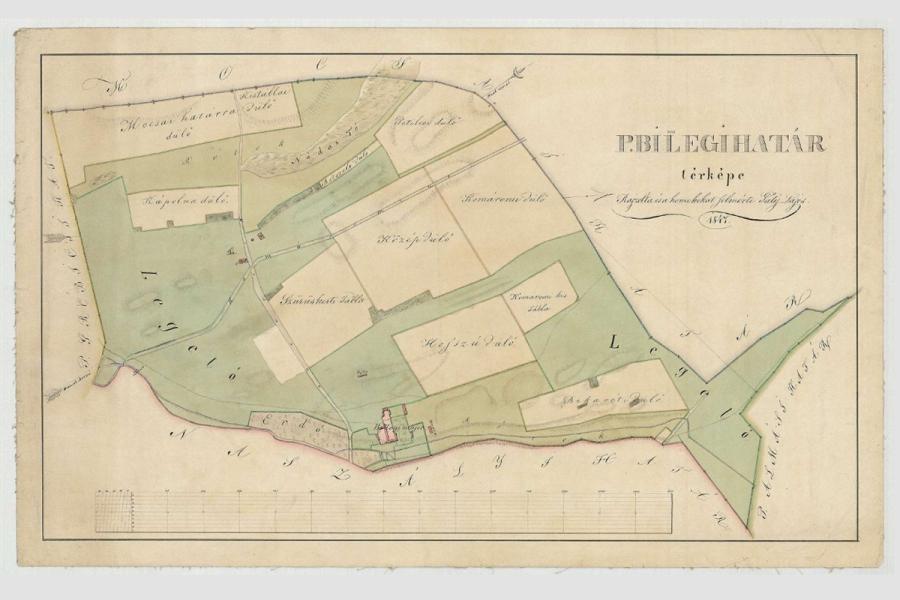 Billegpuszta térképe, 1847 - Balogh–Esterházy-kastély