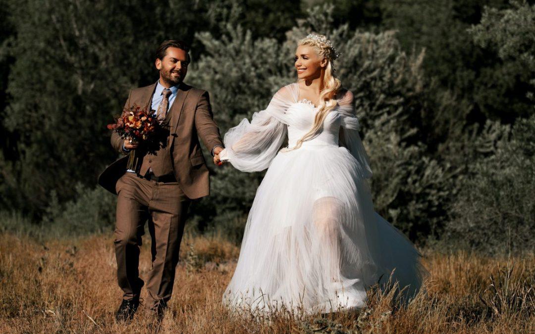 Színpompás őszi esküvő